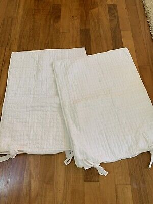 Pottery Barn Pillow Shams- White Quilted Pattern-Never Used, (2) Shams