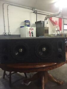 "2- 8"" subs"