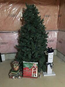 "7"" pre lit blue spruce Christmas tree"