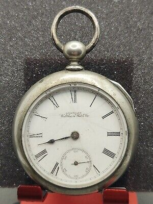 WALTHAM MODEL 1883 BROADWAY 18 SIZE KEYWIND POCKET WATCH 7J FOR PARTS/REPAIR