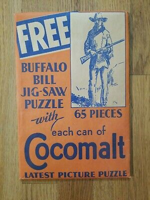 Vintage Buffalo Bill Jig-Saw Puzzle Advertising For Cocomalt