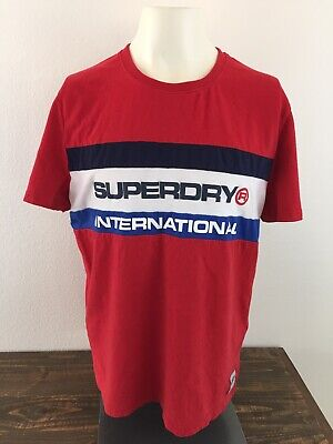 Superdry Sports Athletic Superdry International T Shirt Men's XL