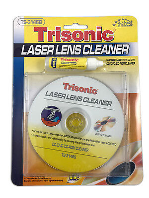 CD DVD Laser Lens Cleaner with Cleaning Solution CD-Rom Trisonic TS-3146B