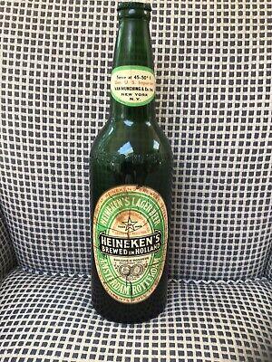 Vintage Old Front Label. Huge 18.5 Inch Heineken Beer Bottle Advertising Display