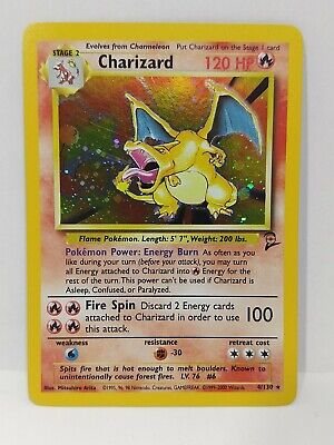 Pokemon - Base Set 2 - Holo Charizard Card Rare - 4/130. NM/MINT