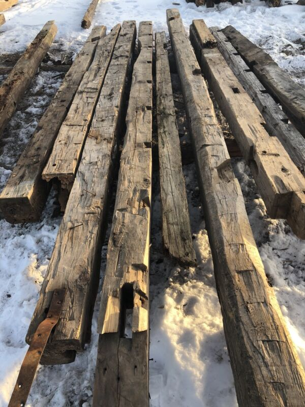 Rustic Reclaimed Hand Hewn Barn Beams