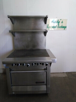 Garland Oven And Hot Top Stove With Double Top Rack 68.5h Clean
