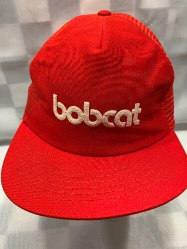 Bobcat Bauernhof Konstruktion Equipment Vintage Rot Kappe Erwachsene Trucker Hut