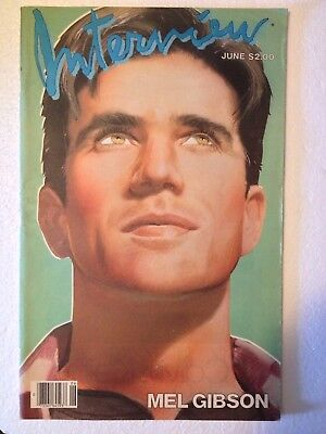 VINTAGE ANDY WARHOL INTERVIEW MAGAZINE MEL GIBSON JUNE 1984 STEPHEN SPROUSE