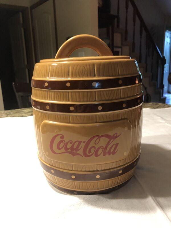 Coca Cola Barrel Cookie Jar 1999