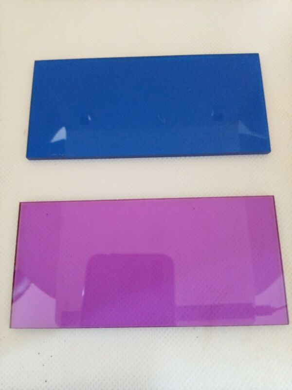 Blue And Magenta 2pc combination set  2x4 -weld in Hi Definition - Read Below