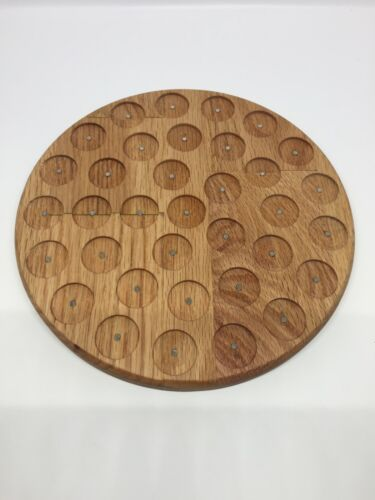 Round Pathtag Wall Display Oak