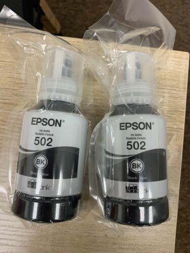 Epson Ecotank 502 Ink Bottle Black(2 PACKS!!!) Exp: 05/2025