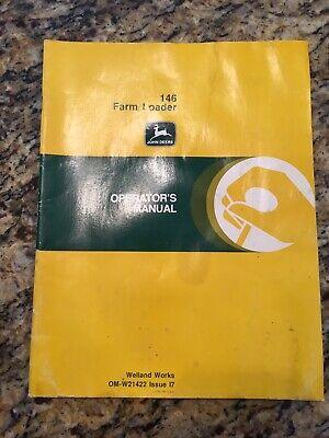 John Deere 146 Farm Loader Owner Operator Manual Om-w21422