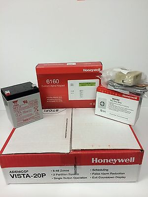 Honeywell Vista 20P, 6160 keypad, Battery Siren Jack & Cord- BEST VALUE ON