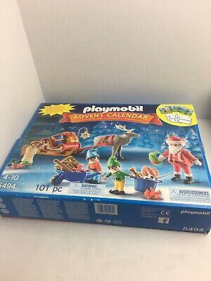 playmobil 5494 Advent Calendar, Santa Christmas Winter Scene, New In Sealed Box
