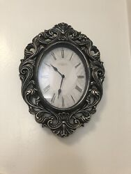14 Inch Vintage Wall Clock Retro Design Battery Operated. Ticking. Beautiful