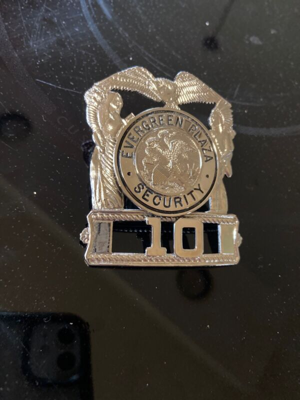retired security-enforcement officer Badge Chicago Mall 1960s