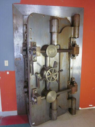 antique Mosler Bank vault Door & trim  old Bank
