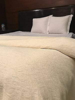 Cotton Luxury Hotel Quality Jacquard Bed Blanket Bedspread Throw Super Soft