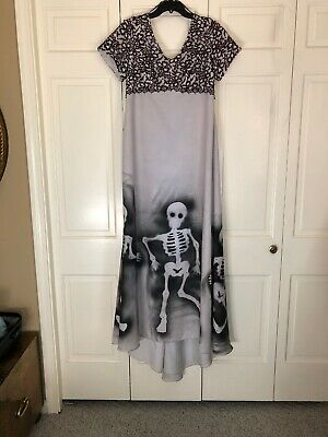 OOAK Day of the Dead Corpse Bride Dress Gown Gothic Size 12 Halloween Costume