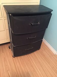 Nightside table with 3 drawers