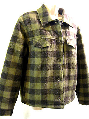 WOMENS WOOLRICH ORIGINAL OUTDOOR  CLOTHING CO. BLACK/ AVACODO FLEECE LINED  MED
