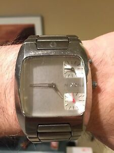 Nixon the banks chrome stainless steel 100m