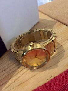 NIXON MENS CANNON ALL GOLD ANALOG WATCH