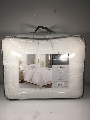 - Madison Park 5 Piece White Comforter Set For Cal King Size Bed