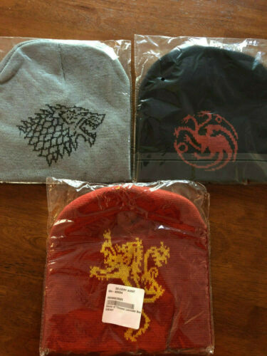 GAME OF THRONES Lot of 3 BEANIE Winter Hats NEW SEALED