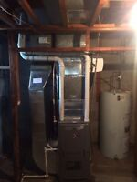 Furnace, air conditioners, hot water tank, etc installation