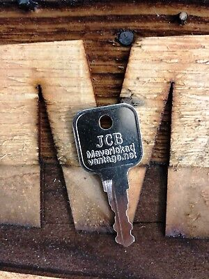 1 Ignition Key Jcb Bomag Dynapac Terex Vibromax Nh Ford Moxy Volvo 7014550