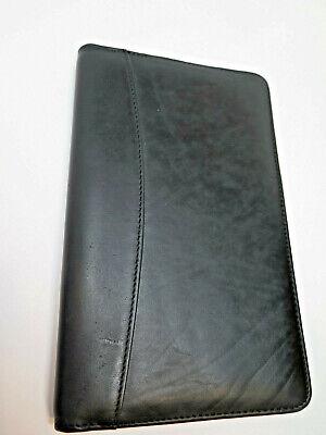 Black Business Card Holder Book Leather 120 Name Cards Organizer Pockets