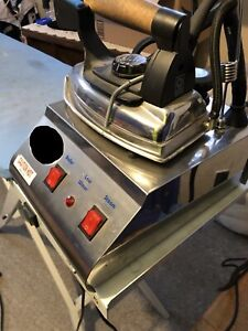 Steam iron and vacuum table