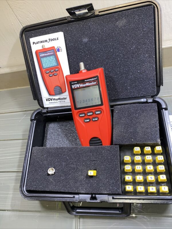 Platinum Tools T130K1 VDV MapMaster 3.0 Cable Tester Kit In Carrying Case Platt