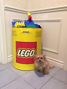 Huge Lego including storage bin& lid. Develop creative thinking