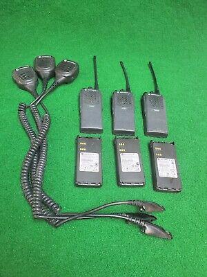 Lot Of 3x Motorola Pr860 Uhf 403-470mhz 4w Radio W Speaker Mic Antenna Battery