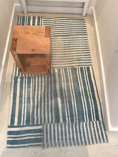 Vintage floor rugs patchwork kilim / change room