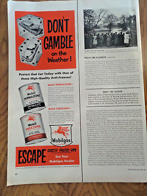1951 Mobil Mobilgas Ad  Don't Gamble on the Weather