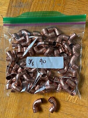 Copper 90 Degree Elbow 38 Inch Fittings - Copper To Copper Qty. 50