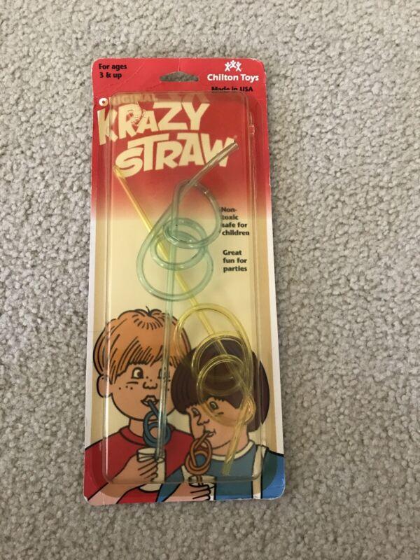 "Vintage Chilton Toys ""The Original Krazy Straw"" - NEW"