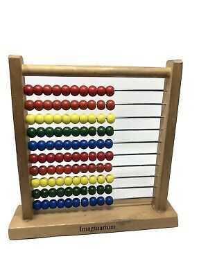 Imaginarium Wooden Abacus Educational Counting Toy 100 Beads Practice Counting