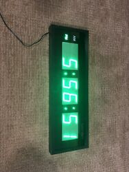 Ivation Large Digital LED Clock - Wall Mount