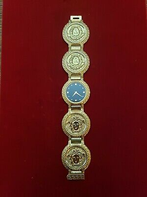 Gently Used Versace Gold Plated Medusa Watch Peace King w/ COA