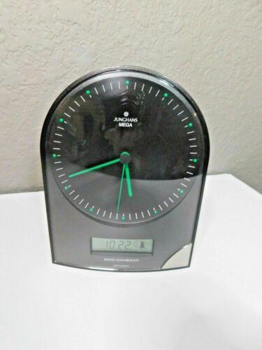 Vintage Junghans Mega Radio Controlled Atomic Desktop Clock Calendar USA Zones