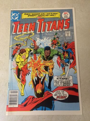 TEEN TITANS #47 COVER ART original cover proof 1977 WONDER GIRL, FLASH, ROBIN