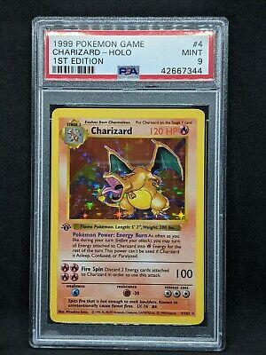 Charizard 1st Edition Base Set PSA 9 Shadowless Holo Pokemon Card - Thick Stamp