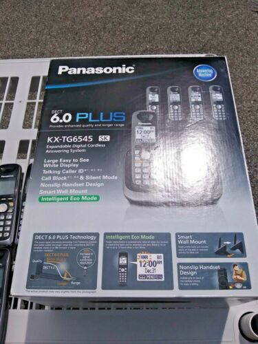 Panasonic KX-TG6545 6.0 Plus 5-Headset w/Digital Answering System in Box Phones