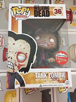 Funko POP Tank Zombie Walker Bloody Fugitive Toys Exclusive The Walking Dead